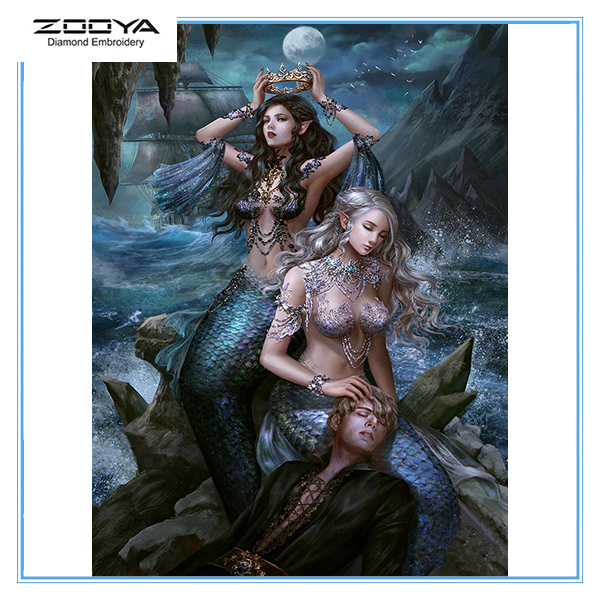 Zooya 5D Diy Diamond Painting <font><b>Sexy</b></font> Mermaid New <font><b>3D</b></font> Diamond Crystal Embroidery Cross Stitch Mosaic <font><b>Wall</b></font> Home Decor Art Gift Lx342 image