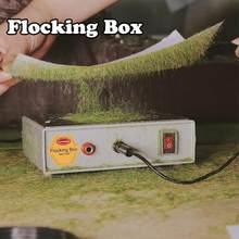 Aplicador de flocado de hierba estática, máquina de caja de flocado, modelo de corte de césped, juegos de guerra, 5mm, 120g, GJ08, 1 lote