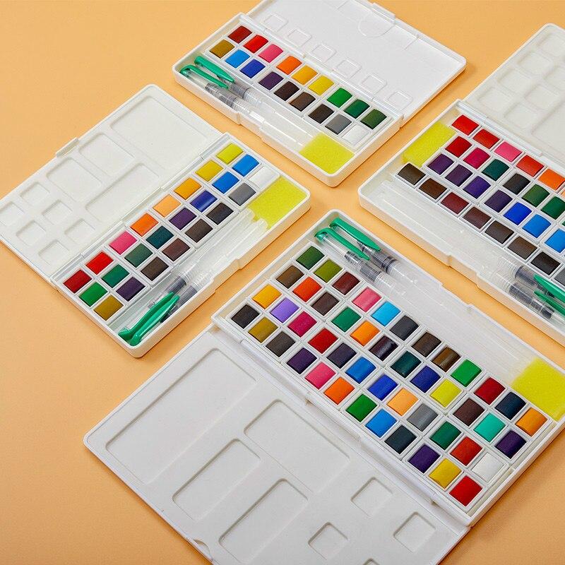 Краска 12/18/36/48 цветов, пигмент s, акварельные краски в наборе сплошных цветов, набор краски, водостойкий пигмент, аксессуары для дизайна