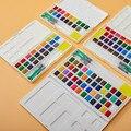 Tinta aquarela 12/18/24/36/48 Cores Pigmento Pigmento da Tinta Aquarela Definir a Cor Da Água Sólida acuarelas Profesionales de Abastecimento De Arte