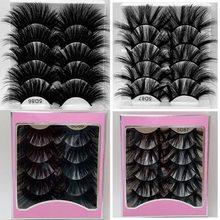 Novo 5 par 100% artesanal longo 25mm cílios 3d vison cílios maquiagem natural cílios falsos 5d volume wispies cílios macios extens