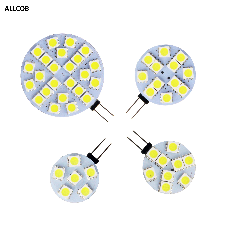 LED Lamp Bulb G4 180 Degree DC12V 5050 SMD 4.8W 2.4W 1.8W 1.2W Warm Cold White Light Replace Halogen Lamp