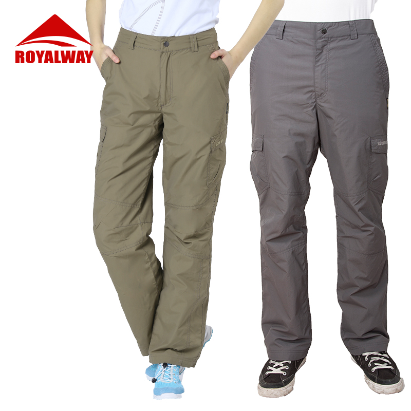 ROYALWAY Camping Hiking Fishing Outdoor Travel Couple Pants Loose Leisure Sports Waterproof Lovers Pants RPM189C&RPL190C image