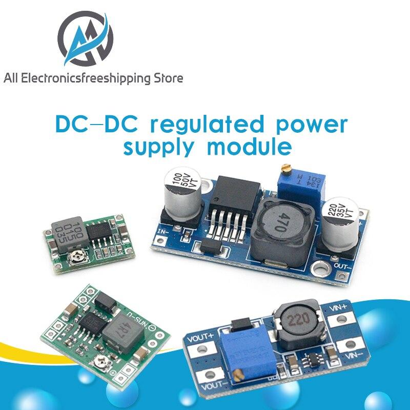 DC-DC стабилизированный модуль питания с регулируемым повышением и понижающий стабилизатор напряжения модуль регулятора напряжения LM2596S-ADJ ...