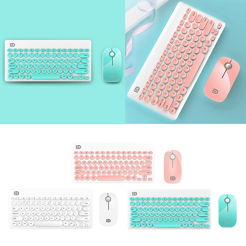 Wireless Keyboard and Mouse Combo - Keyboard and Mouse Included, 2.4GHz Wireless Connection, Long Battery Life Lag-Free Wireless
