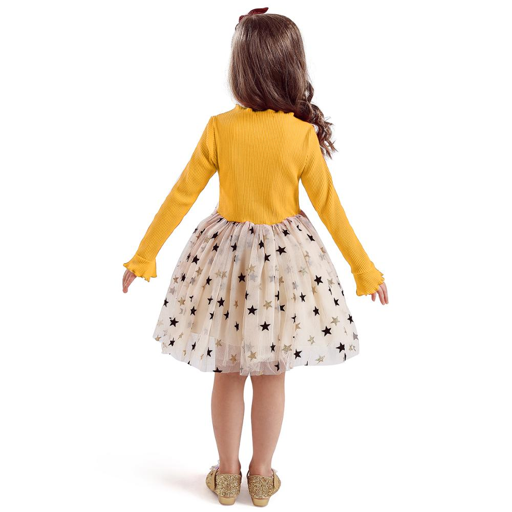 Kid Dresses For Girls Long Sleeve Girl Dress Sequin Star Children Dress Casual Dress Kid Dress Girl Party Wear Clothing Vestidos 6