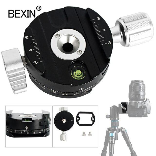 Dslr الإفراج السريع المشبك منصب الكاميرا كليب ترايبود لوحة محول 360 تدوير بانورامية اطلاق النار المشبك ل arca السويسري كاميرا ترايبود