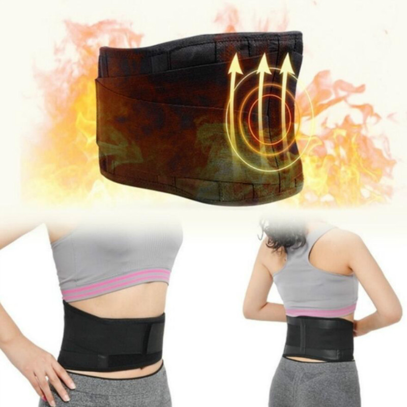 Tourmaline Waist Brace Support Belt Self Heating Lower Back Support Magnetic Therapy Lumbar Waist Bandage Back Waist Belt