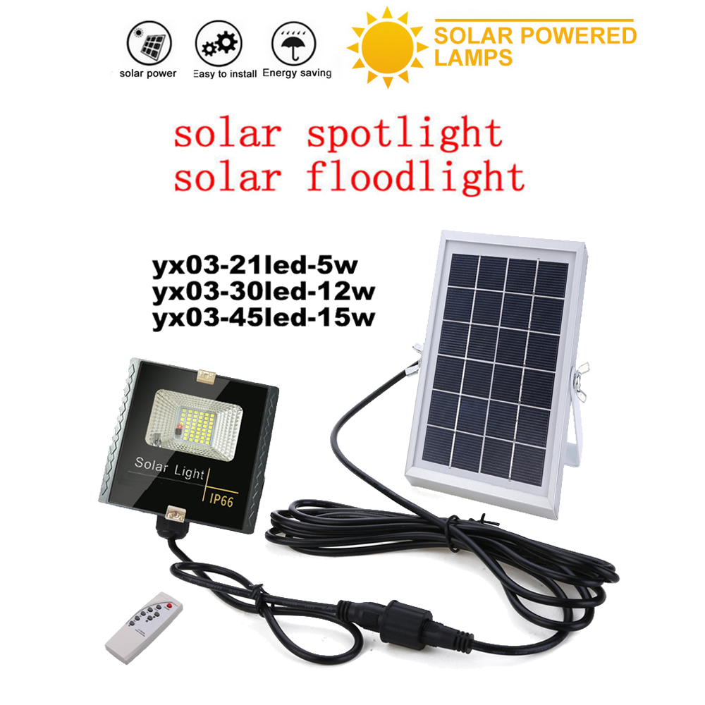 LED Solar Ligh Solar Power Wall Light Waterproof Ip66 Outdoor Security Lamp Garden Street Light Remote Timer Split Mount Indoor