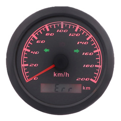 85MM GPS Speedometer Gauge 120 km/h 200 km/h With Left Right High Beam Indicator Lights GPS Antenna Speed Meter For Car Boat