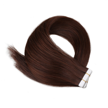 Наращивание человеческих волос, настоящие человеческие волосы, бразильские волосы, 20 шт./40 шт., машинная Реми, шелковистые, прямые, бесшовные...