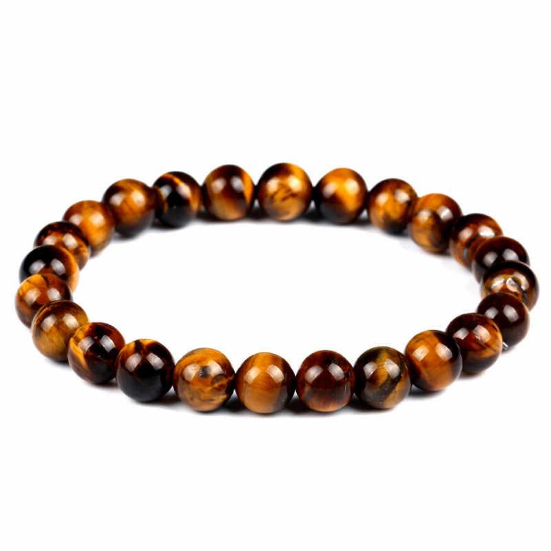 Kamień naturalny bransoletka damska tygrysie oko lawa Rock zroszony kryształ biżuteria biżuteria para bransoletka bransoletka biżuteria akcesoria