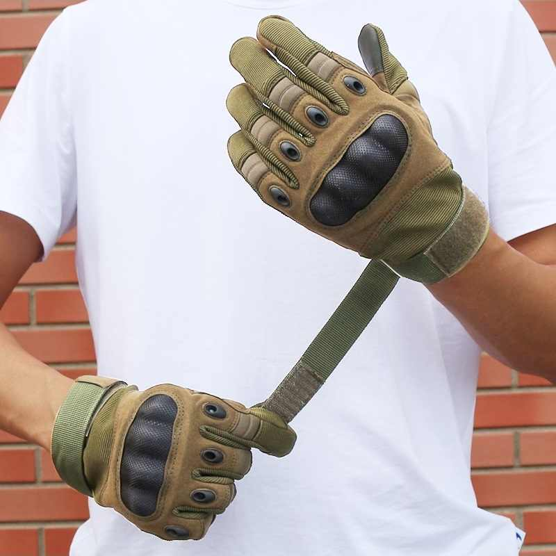 Guantes tácticos para hombres militares, guantes de ciclismo para deportes al aire libre, guantes de ciclismo para el ejército, antideslizantes, guantes de bicicleta con pantalla táctil portátil