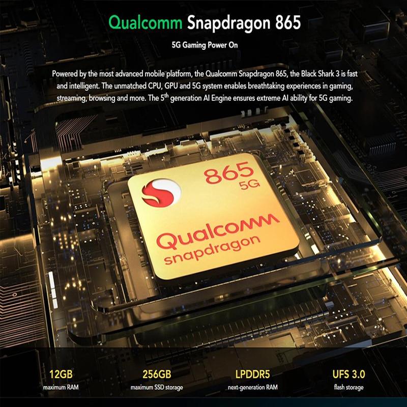 XiaoMi Black Shark 3 5G Gaming Smartphone 8GB 128GB 6.67