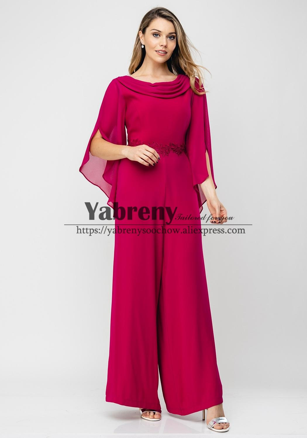 2020 New Arrival Mother Of The Bride Jumpsuit Women Special Occasion Dress
