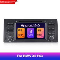 DSP Android 4G 64G Car DVD PLAYER For BMW X5 E53 E39 GPS stereo audio navigation multimedia IPS screen head unit Octa core