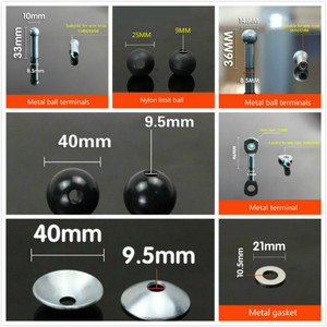 Gym Steel Wire Joints Fitness Equipment Accessories Anaerobic Practice Metal Limitation Ball Hollow Screw Terminal