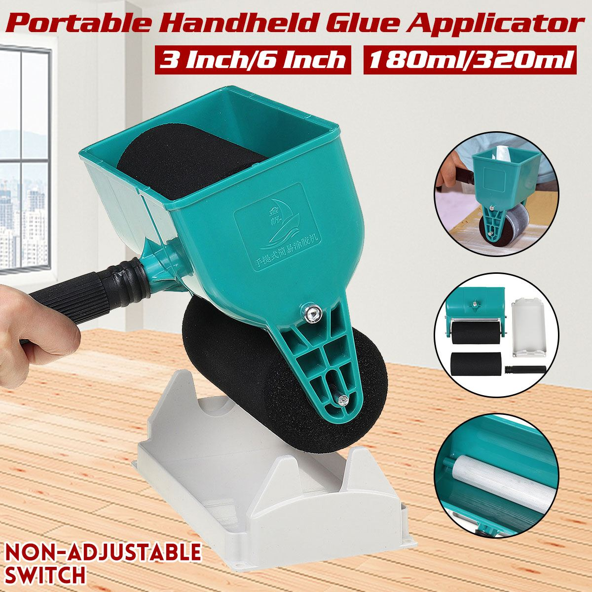 Manual Glue Machine Portable Handheld Glue Applicator Roller for Woodworking
