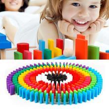 Экологичный липа деревянный набор домино детей строительные блоки Дети легко играть образование игрушки плитки игры