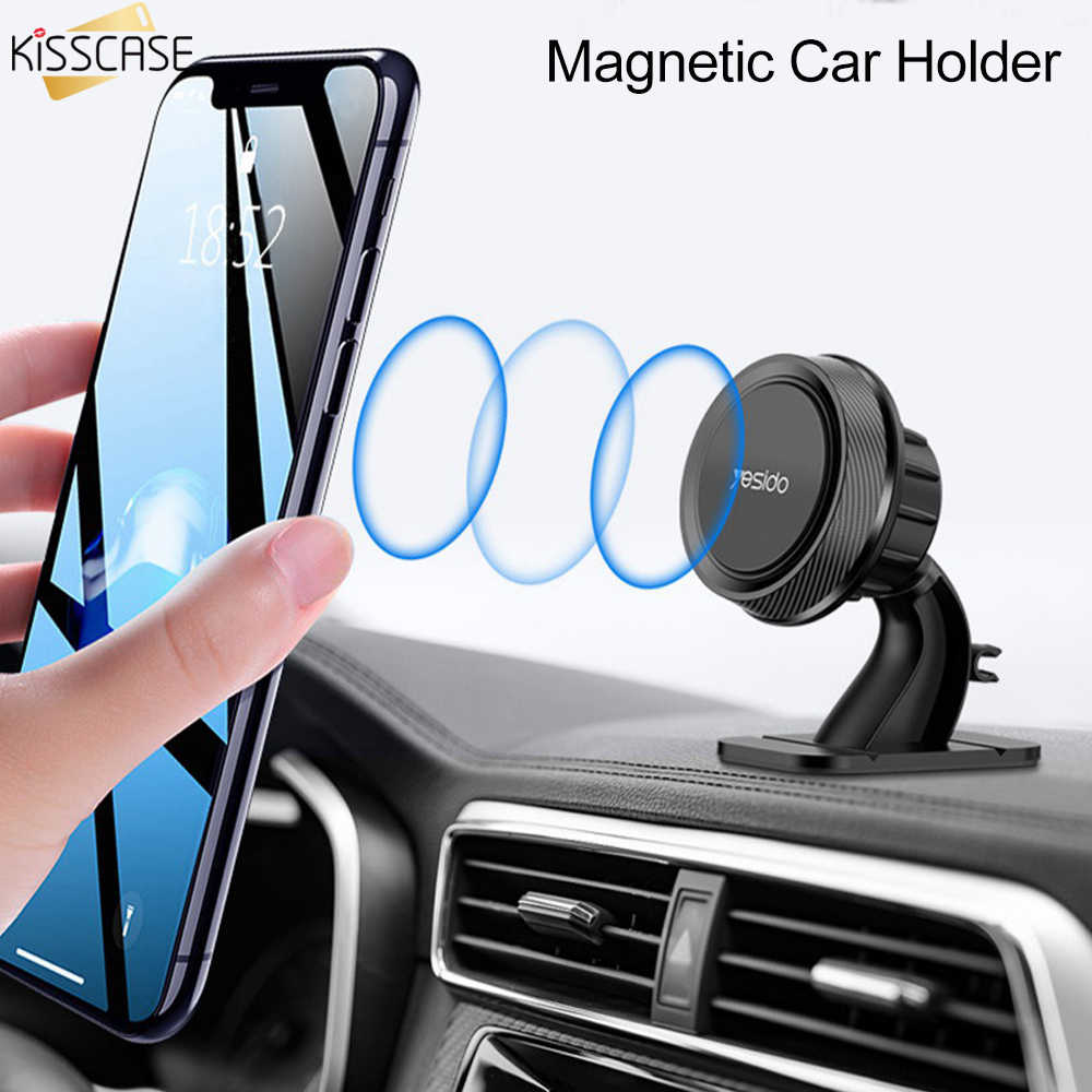 KISSCASE Magnetic Car Holder Stand in Car For iPhone Samsung Huawei Magnet Phone Holder Air Vent Mount Mobile Phone Support GPS