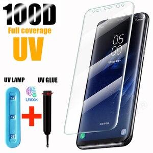 UV Tempered Glass For Samsung Galaxy S10 Plus Glass S9 S8 Screen Protector S20 Ultra S10e S 9 8 10 e Note 9 10 s10 lite Protect
