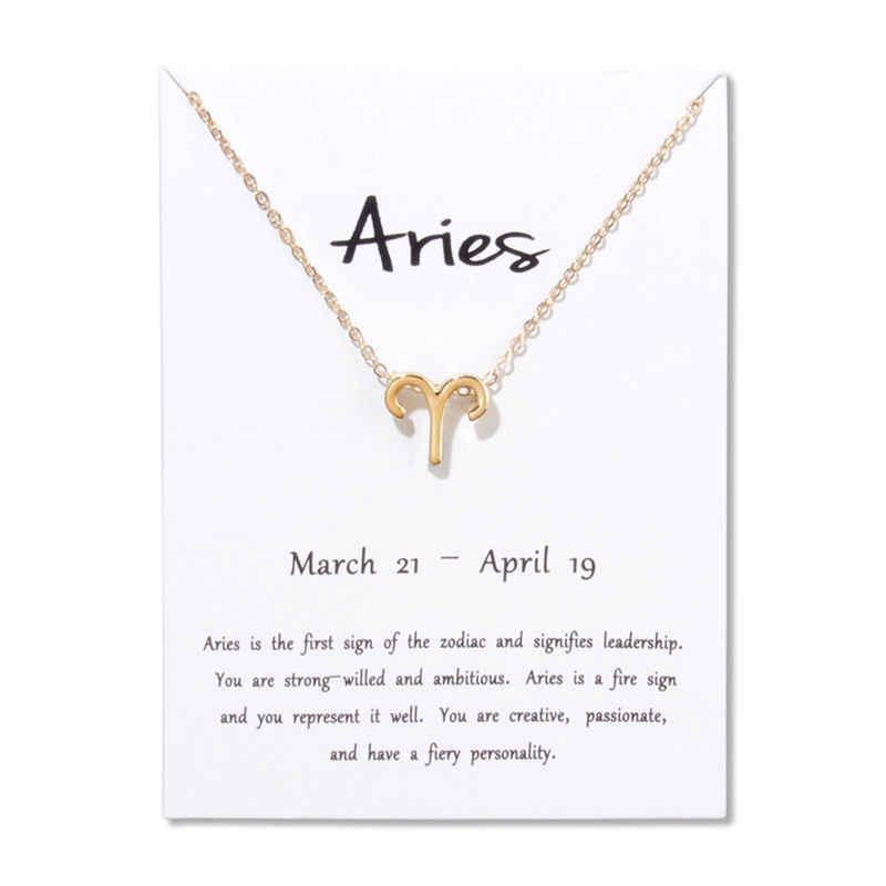 Libra 12 созвездий колье ожерелье кулон Leo Pisces Virgo Scorpio Capricorn подарок на день рождения белое ожерелье с картой ювелирные изделия