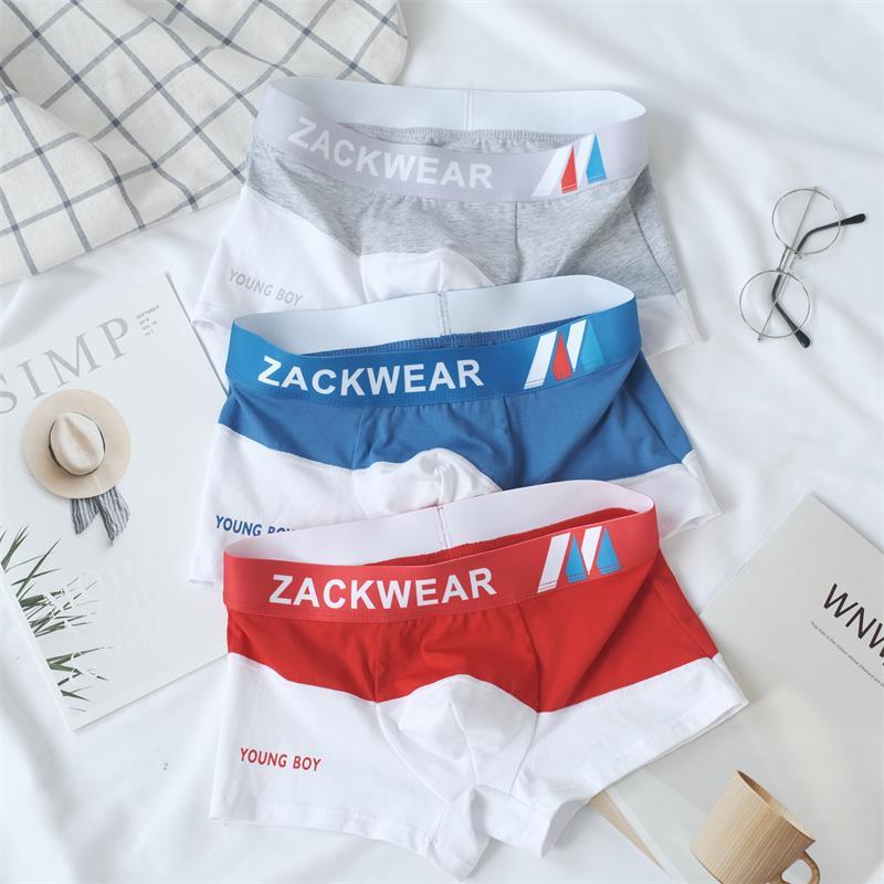 1PCS Men's Underpants Trend Cotton Underwear Men Multicolor Comfortable Breathable Youth Men's Boxer Shorts 2020 New