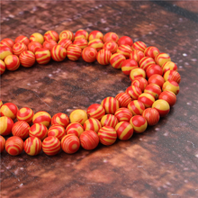 Fashion Red Malachite Round Beads Loose Jewelry Stone 4/6/8/10 / 12mm Suitable For Making Jewelry DIY Bracelet Necklace