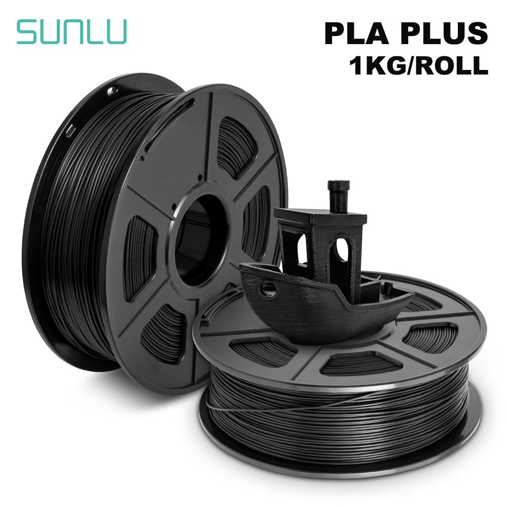 SUNLU 3D-принтеры нити PLA плюс 1,75 мм 2,2 фунтов 1 кг катушки Новый Быстрая доставка Новый 3D полиграфические материалы для 3D-принтеры s и 3