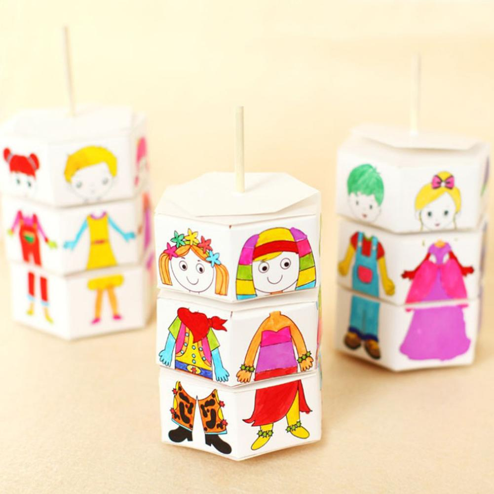 Children's Dress-up Rotation Watercolor Painting Handmade DIY Painted Dress-up Toys