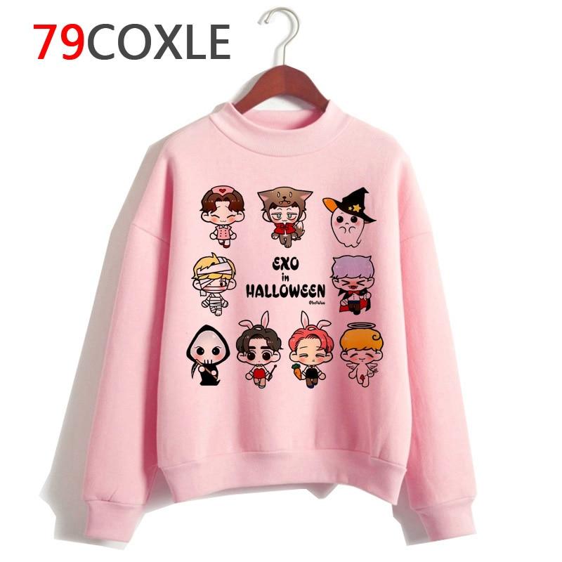 Exo Harajuku Hoodie Women Korean Style Hip Hop Clothes Sweatshirt Cartoon Streetwear Female Casual Print Hooded Pullover