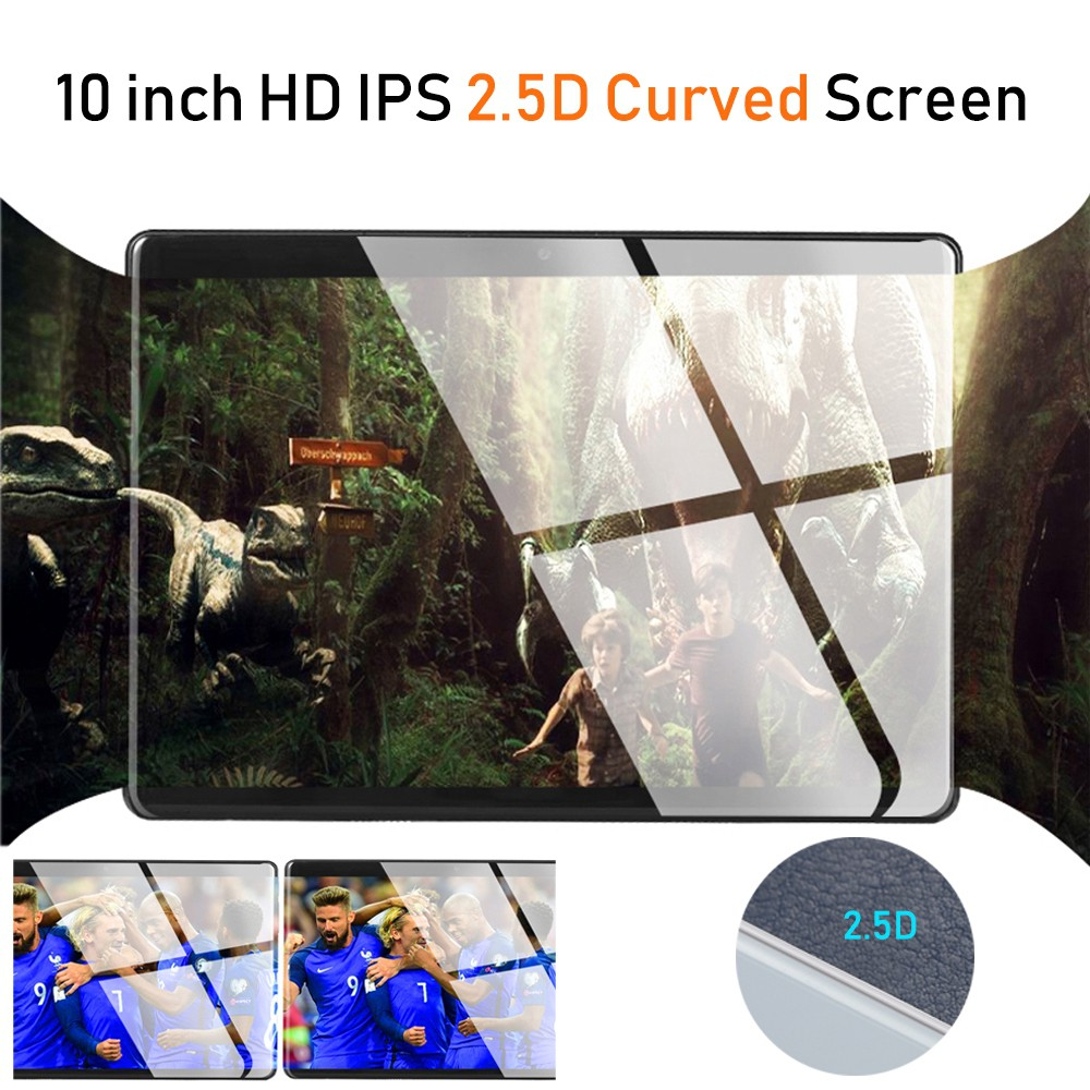 Sales 6GB RAM 10.1 Inch Tablet PC 1280*800 HD 2.5D Tempered Glass 10 Core 4G Tablet 128GB ROM Dual Cameras Android 8.1 Tablet