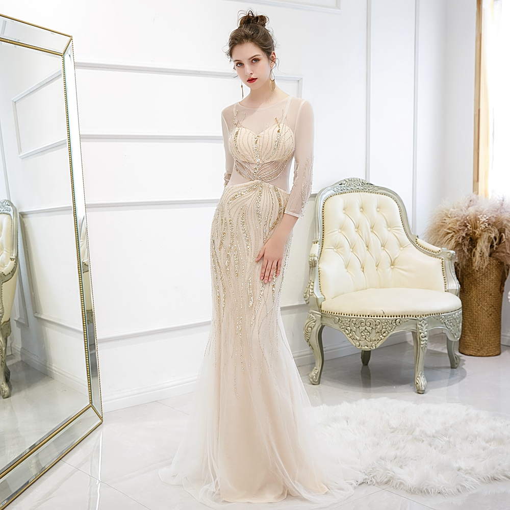 High Slit Party Evening Gowns