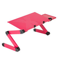 360 degree Portable foldable adjustable table for Laptop Desk Computer notebook Stand Tray For Sofa Bed home office Black red|  -