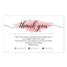 30 Pieces Thank You For Your Order Card Custom Write Your Business Card Small Business Gift Decoration Label Goods Follow Card