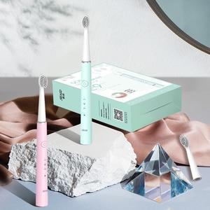 Image 3 - 2020 Nieuwe Usb Oplaadbare Elektrische Tandenborstel Sonische Tandenborstel Voor Vrouwelijke En Meisje Met 4 Zachte Borstel Hoofd