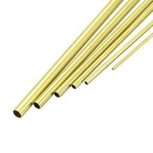 Uxcell 6 шт латунная трубка 1 мм 1,5 мм 2 мм 2,5 мм 3 мм 3,5 мм OD X 0,2 мм толщина стенки 300 мм Длина бесшовная круглая труба трубка