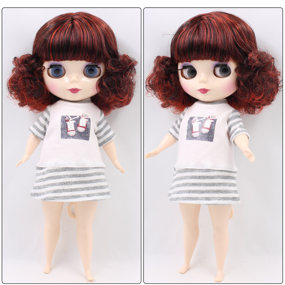 Neo Blythe Plump Doll with Multi-Color Hair, White Skin, Shiny Face & Fat Body 1