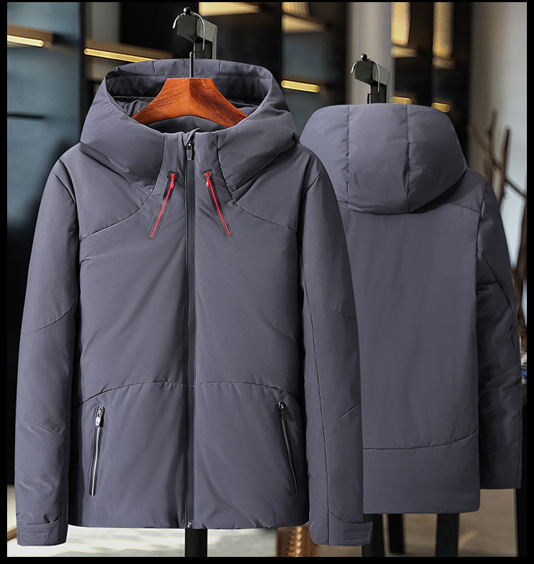 HO new 19 thickening down jacket young men brief paragraph clothes leisure in winter to keep warm 6
