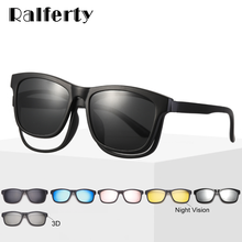 Ralferty Magnet Sunglasses Men Eyeglass Frames With Clip On Sunglass