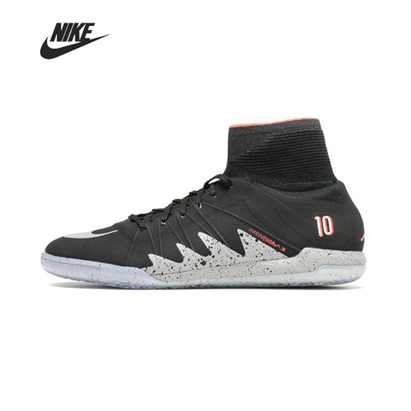Nike HyperVenomX Football Boots Men Soccer High Ankle Cleats Boys Soccer Shoes Training Sport Shoes Sneakers 820118-006
