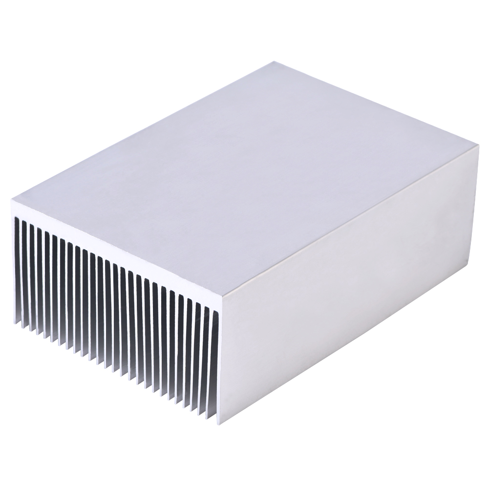 Electronic Radiator Aluminum Dense Teeth Heatsink Extruded Heat Sink Computer Water Cooling System 100x69x36mm