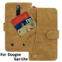 """Кожаный бумажник Doogee S40 Lite чехол 5,"""" Флип Ретро роскошные чехлы с отделениями для карточек на передней панели Чехол деловые магнитные чехлы для телефонов"""