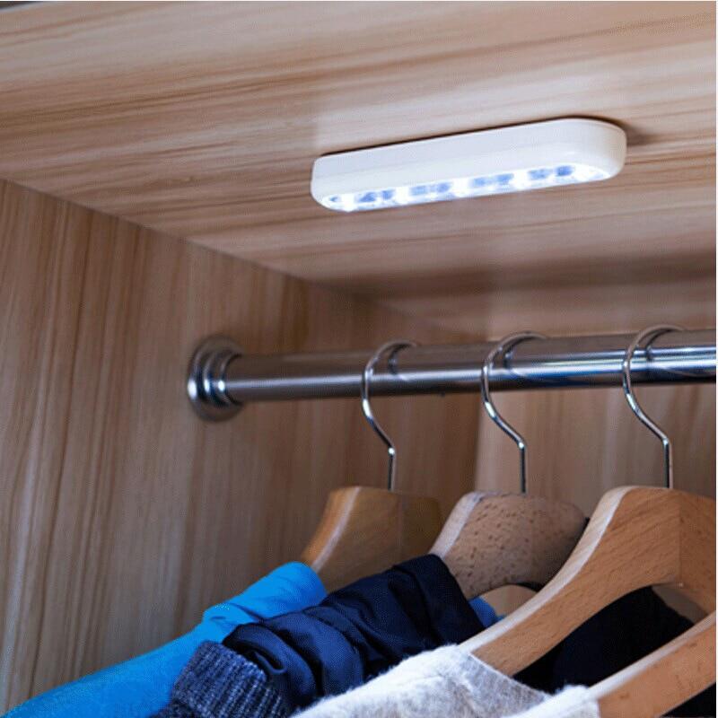 High Brightness Touch Light Portable Mini 3-5 LED Wall Kitchen Cabinet Closet Car Emergency Lights Novelty Lighting Lamp.