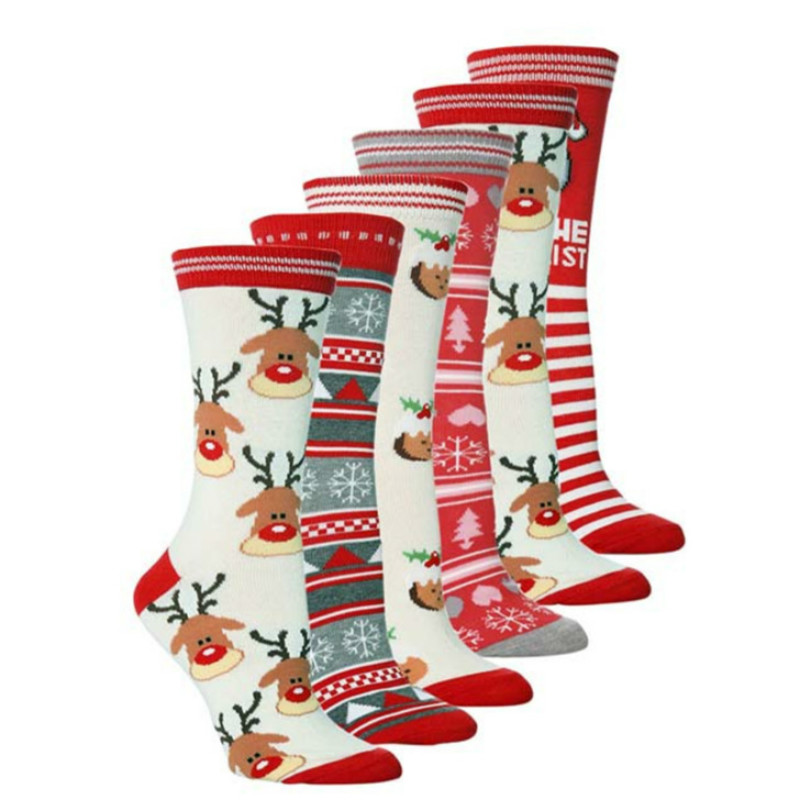 Fashion 0 Shipping Fee Lovely Christmas Socks Snowflake Wool Winter Women Man  Cute Deer Plush Warm