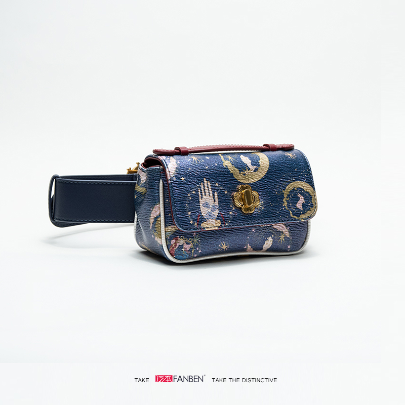 NEW Fashion Belt Bags Vintage Travel Waist Belt Bags Phone Pocket PU Leather Waist Pouch Vintage Lady Starry sky Pack wholesale