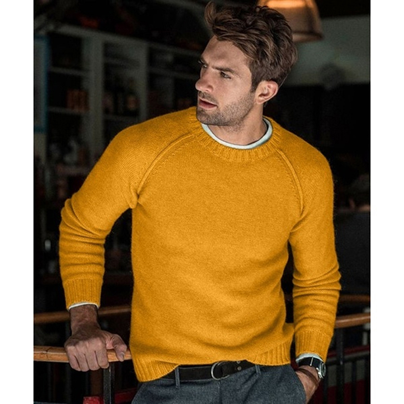 Autumn Winter Warm Men Sweater Pullover Knitted Loose Pull Homme Clothes Plus Size Casual Solid Jumper For Male