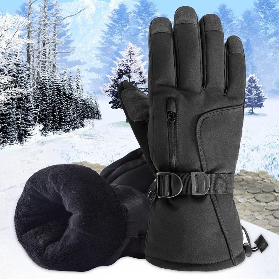 Модные лыжные перчатки для сенсорных экранов, Нескользящие четырехслойные композитные тканевые перчатки, высококачественные водонепрони...