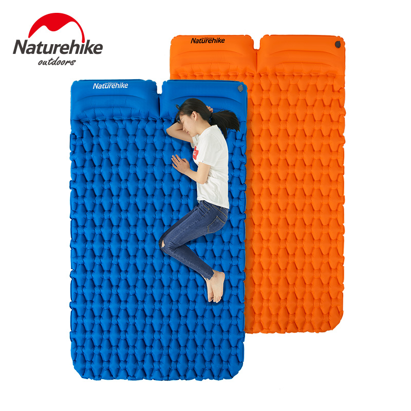 Naturehike Portable Inflatable Mattress 1-2 Person Thickened TPU Camping Mat Ultralight Waterproof Sleeping Pad With Pillow