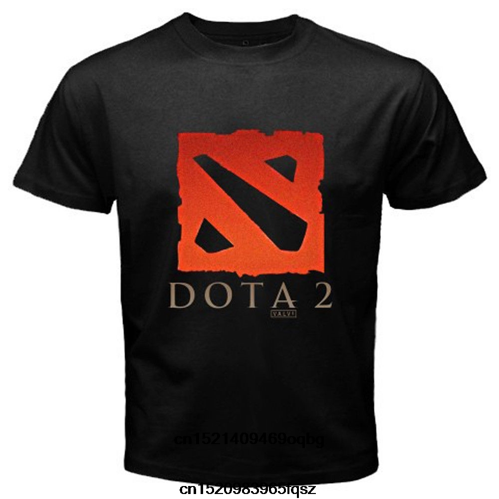 Dota 2 Defense Of The Ancients Multiplayer Game Men Black T Shirt
